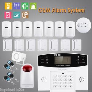 Kit Alarme de Maison LCD GSM Sans Fil Antivol  Auto Appel SMS Sirène Securité EU