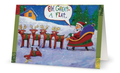 UR Words BUSINESS PERSONAL Humorous SANTA Flat CUSTOM Christmas Holiday CARDS