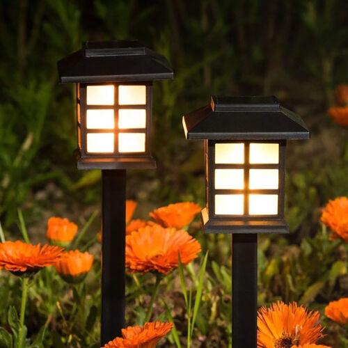 SOLAR LED PATHWAY LIGHTS Set Outdoor Path Light Yard Garden Walkway Lamp 8-PACK