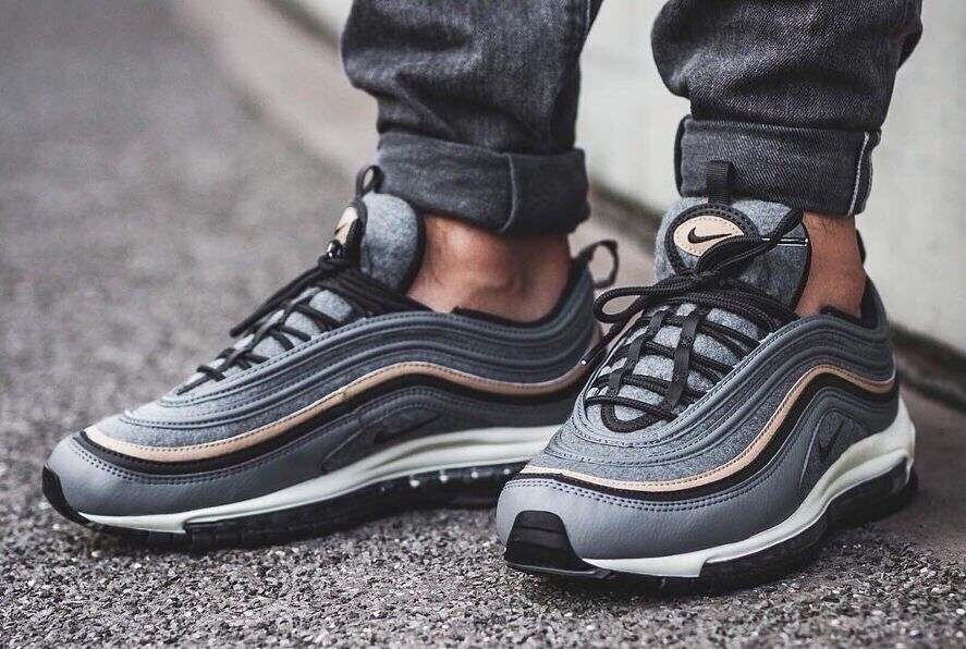 Nike Air Max 97 Premium 'Wool' 312834-003  Gris  Deep Pewter7 EU 41 US 8 New