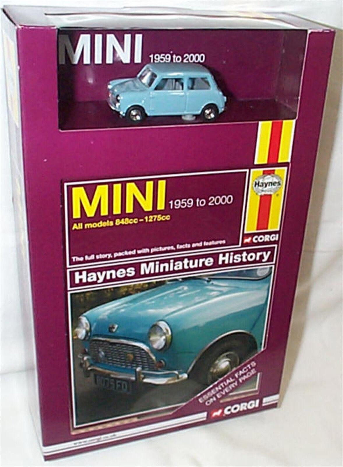 Mini bluee 1959-2000 1-43 scale Haynes mini History Book & Car Boxed set CC03001