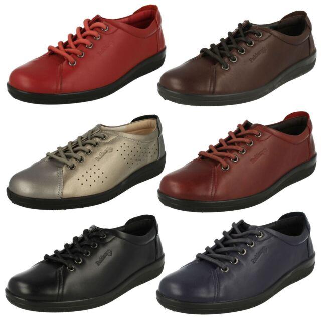 b71bb7e1b4205 Padders Galaxy Ladies Leather Comfy Wide E Fit Shoes Metallic UK 5.5 ...