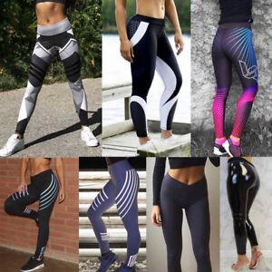 Women-Waist-Yoga-Fitness-Leggings-Running-Gym-Stretch-Sports-Pants-Trousers-Slim
