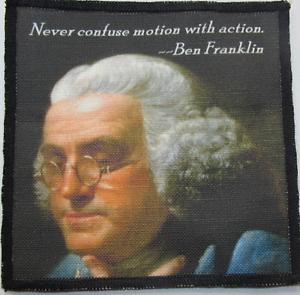 Backpack Jacket BEN FRANKLIN QUOTE Vest Bag Printed Patch Shirt Sew On