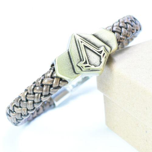 Armband Symbol des Assassin/'s Creed schwarz braun