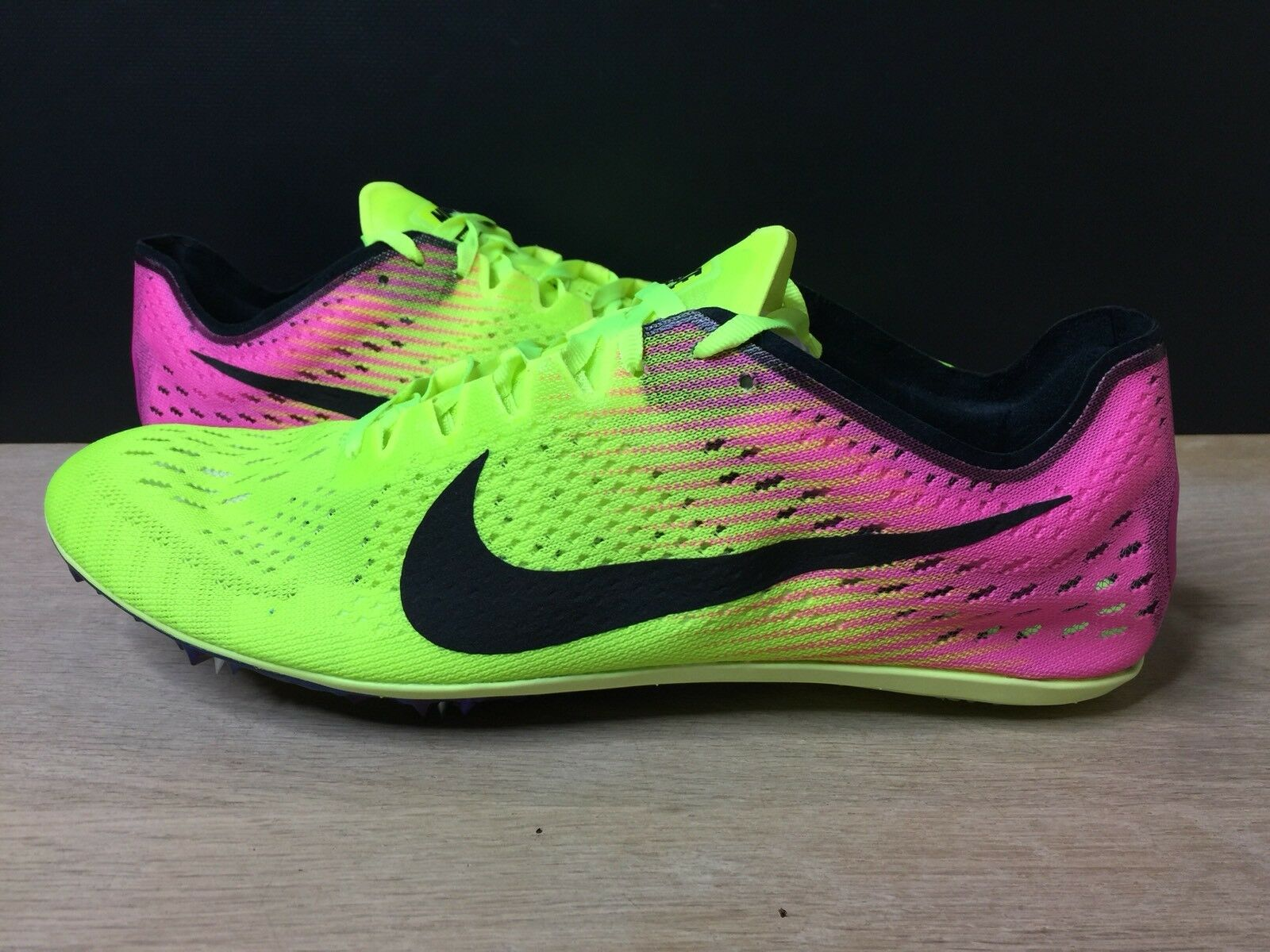 Nike Zoom Victory Elite 2 Distance Track Spikes Shoes Volt 835998-999 Size 11