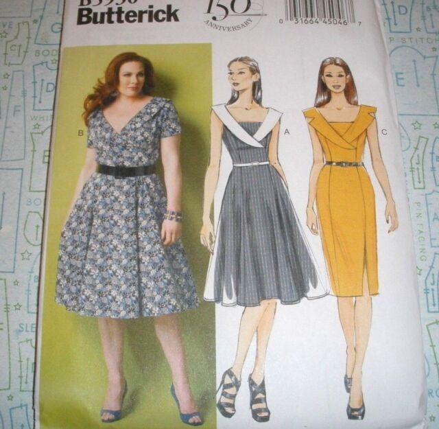 Plus Size 18 W 24 W Women S Dress Sewing Pattern Butterick 5930 for ...