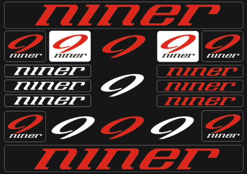 Niner Mountain  Bicycle Frame Decals Stickers Graphic Adhesive Set Vinyl Red