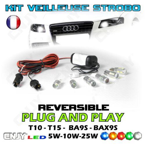 KIT 2 AMPOULES VEILLEUSE STROBOSCOPIQUE STROBO//FIXE PACE CAR FEUX DE PENETRATION