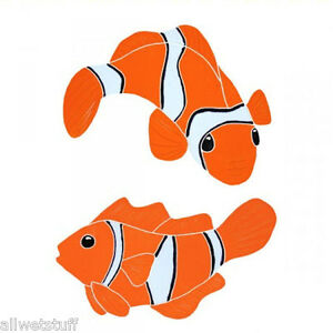 Mosaic Tile Clown Fish Nemo Swimming Pool wall patio walk drive way table top