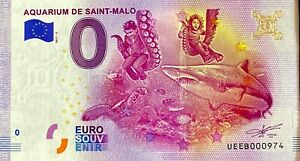 BILLET-0-EURO-AQUARIUM-DE-SAINT-MALO-FRANCE-2017-NUMERO-DIVERS