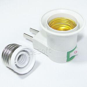 Accessory-Brand-New-LED-Light-E27-Socket-US-Plug-amp-E27-To-E12-Socket-Converter
