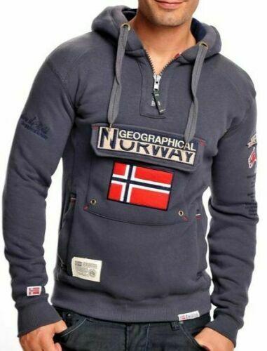 Felpa GEOGRAPHICAL NORWAY Finion Uomo Full Zip cappuccio WM3404H