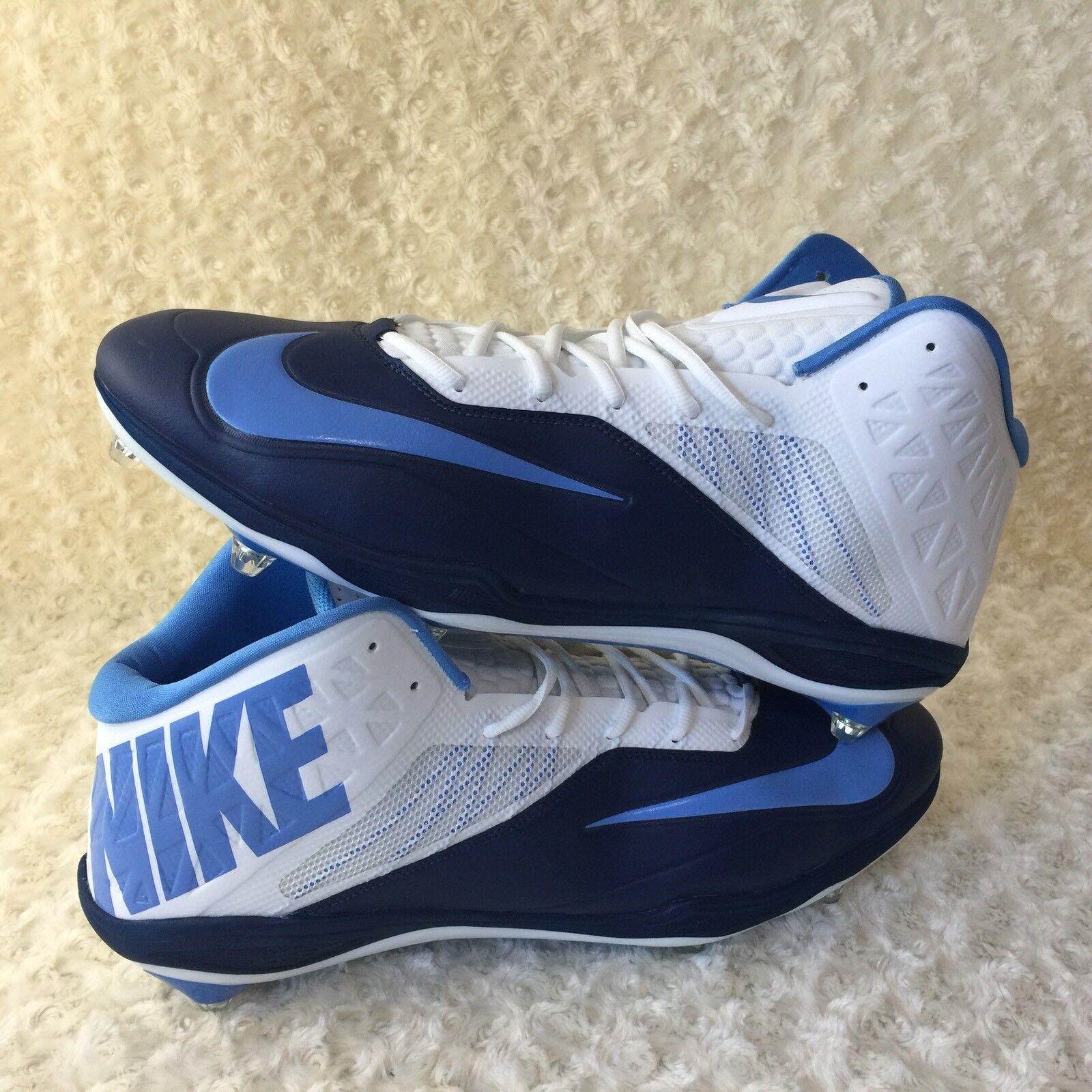 Nike Zoom Code Elite 3/4 Shark Men Sz 18 US Football Cleats Shoes 620501-131 New
