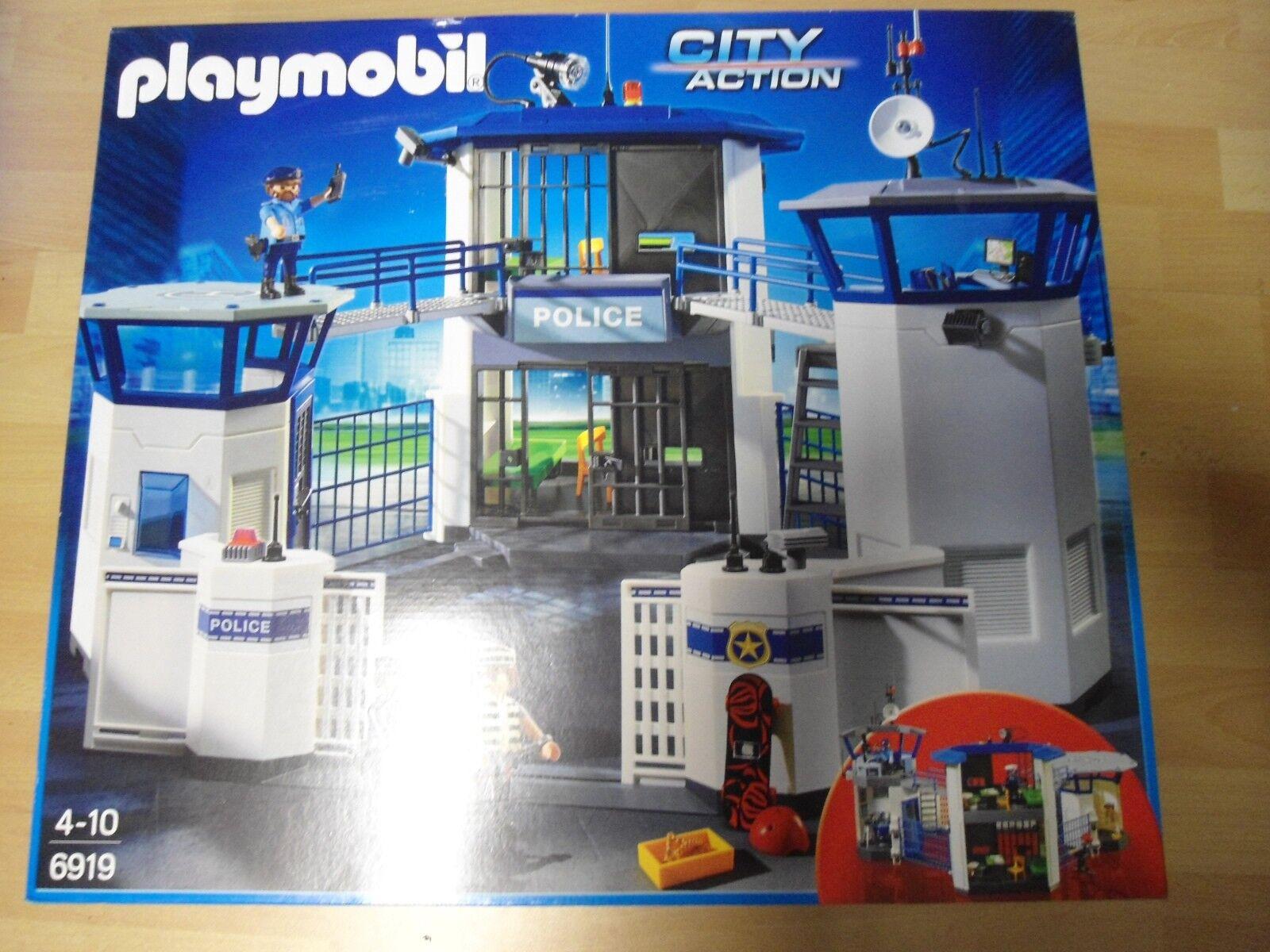Playmobil  Set 6919   Polizeistation Gefängnis    NEU