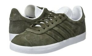 276e4bd74 Details about ADIDAS GAZELLE STITCH AND TURN TRAINERS OLIVE GREEN MENS  WOMENS