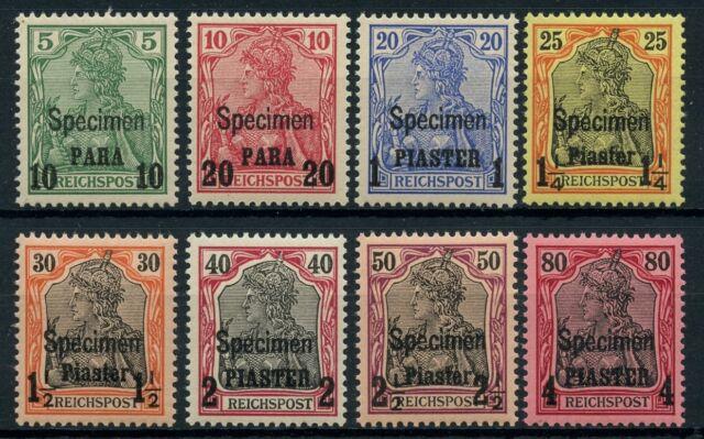 DP Türkei 1900 Germania 12 - 19 I SPECIMEN ** Postfrisch Attest Steuer BPP / 43