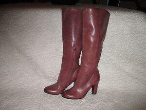 de927981d SAM EDELMAN Regina Tall Knee High Heeled soft Leather Boots 7 M