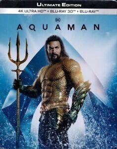 AQUAMAN-Jason-Momoa-4K-Ultra-HD-Blu-ray-3D-Blu-ray-Disc-Steelbook-NEU-OVP