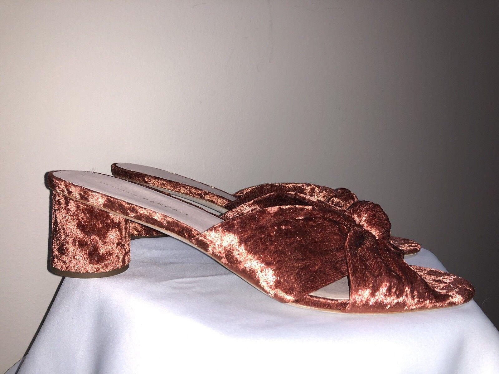 Loeffler Randall Randall Randall Rust Burnt Orange Mule Velvet 11 d5c04f