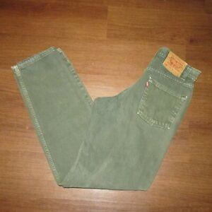 Levis Vintage 550 Relaxed Fit Pantalon Vaquero Verde Para Hombres 30 X 34 Td7 6 Ebay