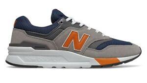 NEW-BALANCE-997H-Scarpe-Uomo-Sneakers-NAVY-GREY-ORANGE-CM997HEX
