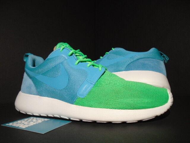 NIKE ROSHE RUN ROSHERUN HYPERFUSE QS TURQUOISE Bleu GREEN BLANC 616325-331 NOUVEAU 8 Chaussures de sport pour hommes et femmes