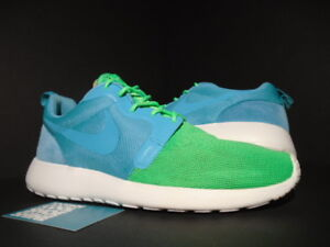 outlet store 541f9 1bdb2 Image is loading NIKE-ROSHE-RUN-ROSHERUN-HYPERFUSE-QS-TURQUOISE-BLUE-
