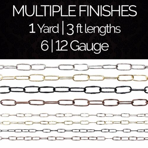 Solid Steel Decorative Spanish Link Pendant Light Chain #58 1 yard or 3 ft