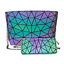 Luminous-Women-Geometric-Laser-Tote-Shoulder-Bags-Laser-Plain-Folding-Handbags thumbnail 25