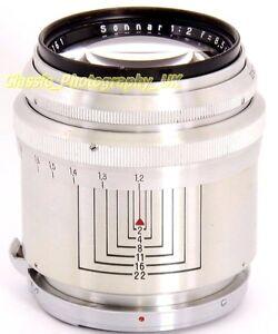 RARE-Model-Carl-ZEISS-Jena-Sonnar-1-2-f-8-5cm-Alu-Barrel-Lens-CONTAX-Micro-4-3