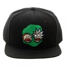 f91d71415eb item 2 OFFICIAL RICK AND MORTY BLACK SNAPBACK CAP WITH PRINTER VISOR (BRAND  NEW) -OFFICIAL RICK AND MORTY BLACK SNAPBACK CAP WITH PRINTER VISOR (BRAND  NEW)