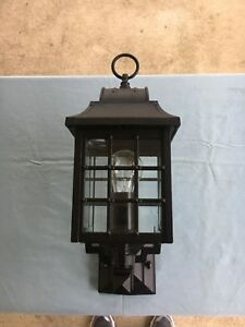 Details About Hanover Lantern B8276 Small Revere 60w 1 Light Black New Display