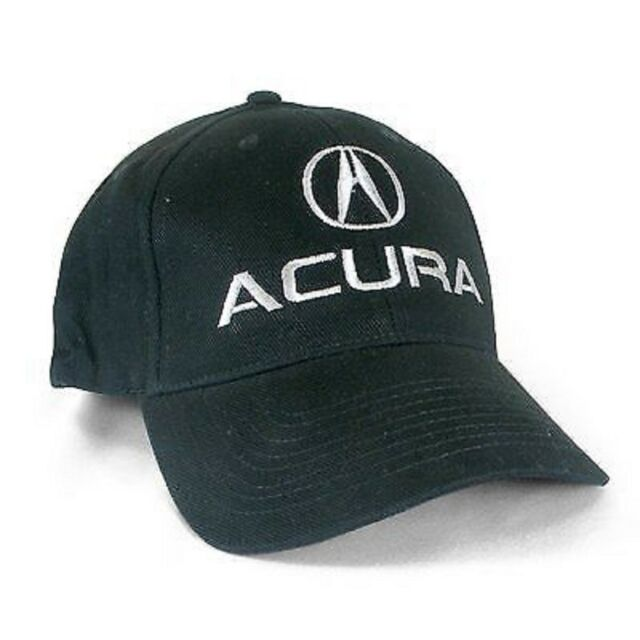 Acura Black Brushed Cotton Flex Hat - L/XL
