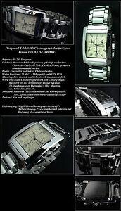 JACQUES-cantani-Cronografo-Reloj-034-dragoner-034-Unisex-Esfera-Plata-saph-coated
