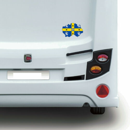 Durham County drapeau CARTE UK Autocollant Mur Art Autocollant Mur Voiture Caravane