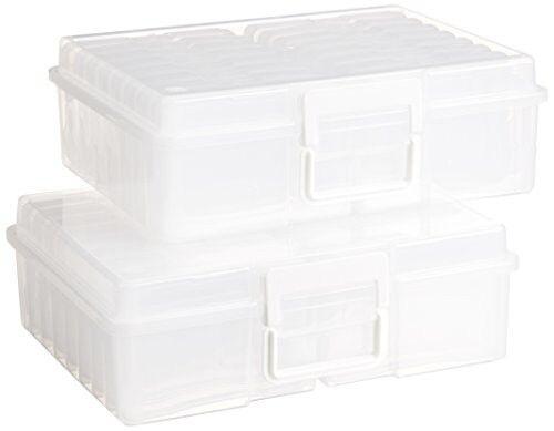 Photo Keeper Case 4 x6  Extra Large Clear Plastic (2pcs) Craft Item Organizer