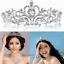 Bridal-Princess-Austrian-Crystal-Tiara-Wedding-Crown-Veil-Hair-Accessory-Silver thumbnail 2