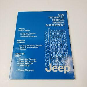 Jeep-1980-OEM-Supplement-Technical-Service-Manual-For-CJ-Cherokee-Wagoneer