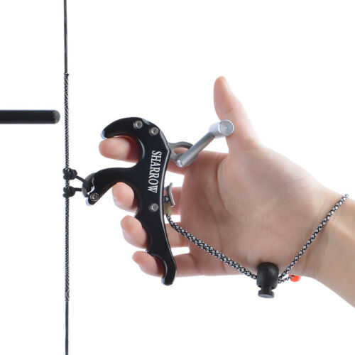 Compound Bow 3 4 Finger Release Aids Thumb Trigger Caliper Handle Archery Grip