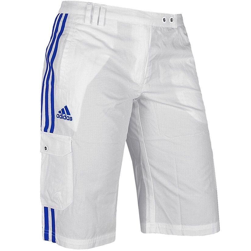 Adidas Cargo Bermuda Damen Capri Outdoor Shorts Sommer Hose France S M weiß/blau