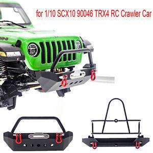 Frente-de-metal-durable-amp-Kits-de-parachoques-trasero-para-1-10-SCX10-90046-TRX4-Rc-Coche-Crawler
