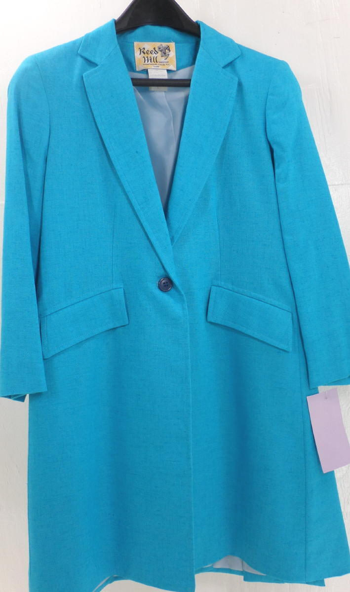 Reed Hill  ld's Saddleseat Day Turquoie  bluee Linen Poly Blend 4  - USA  more affordable