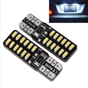 2X-T10-168-194-W5W-3014-24SMD-LED-Canbus-No-Error-Car-Side-Wedge-Light-White-New