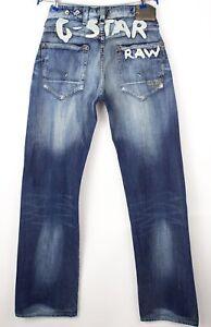 G-Star Brut Hommes Radar 01 Embro Jeans Jambe Droite Taille W32 L36 AVZ141
