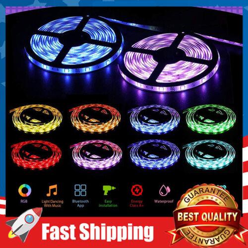 32.8ft LED Strip Lights Music Sync Color Changing 5050 RGB 23 Keys IR Remote