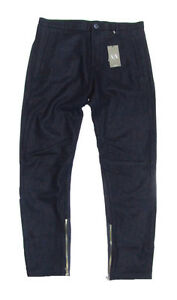 Armani-Exchange-A-X-Mens-Wool-Solid-Navy-Casual-Dress-Pants-28-30-32-33-34-36-38