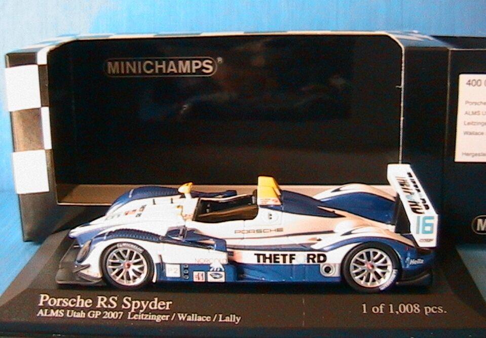 PORSCHE RS SPYDER  16 ALMS UTAH GP 2007 LEITZINGER WALLACE LALLY MINICHAMPS 1 43