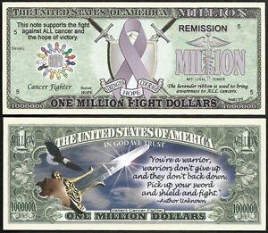 Lot-of-500-BILLS-Fight-ALL-Cancer-Lavender-Ribbon-Million-Dollar-Bill