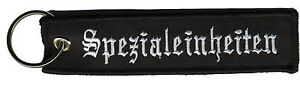 tissu-Porte-cles-Pendentif-Porte-cles-Spezialeinheiten-14129-2-Noir